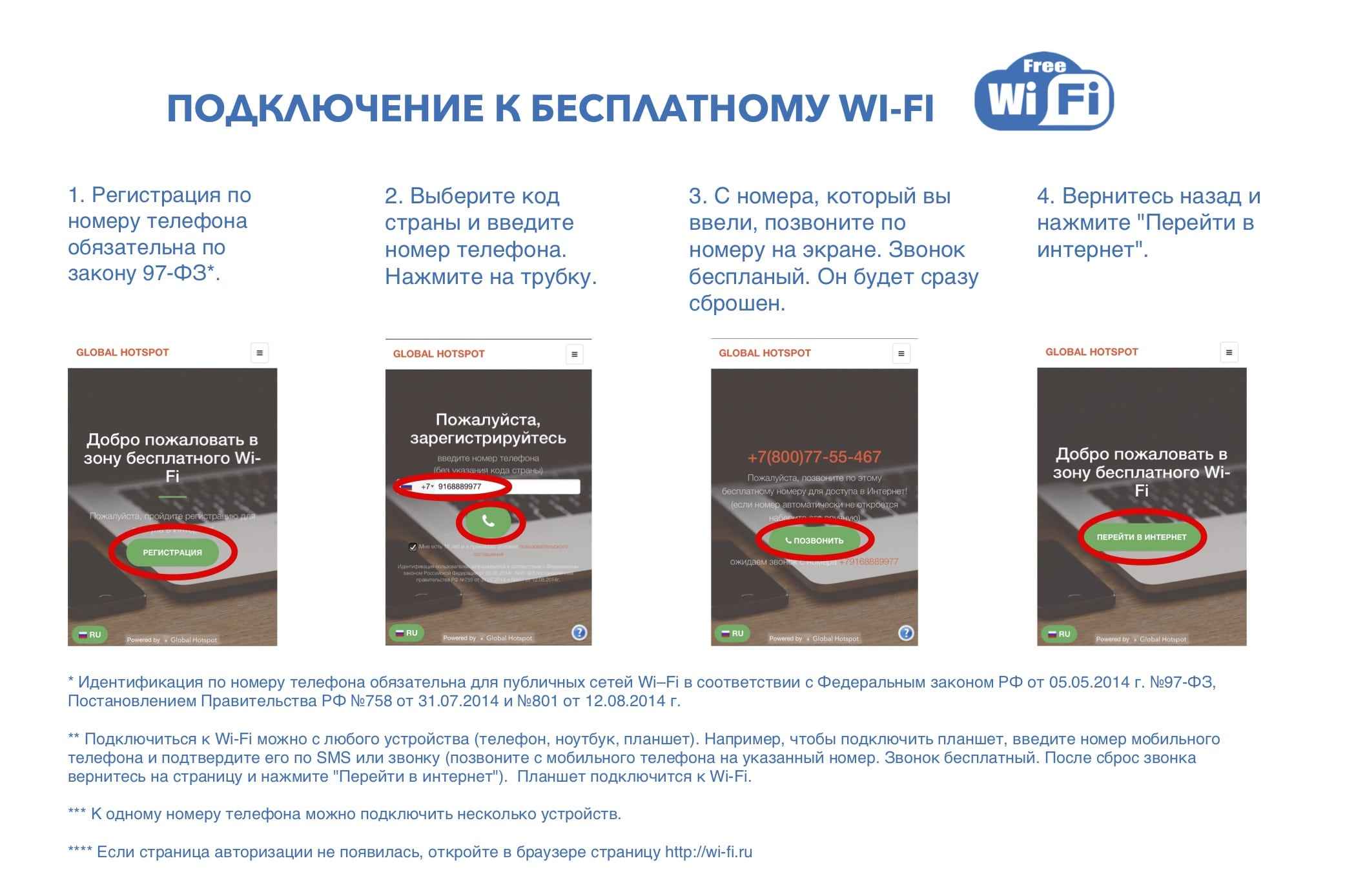 памятка Wi-Fi авторизация