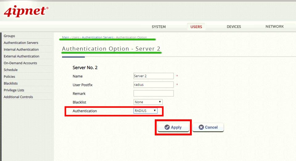 Настройка Captive Portal на оборудовании 4ipnet
